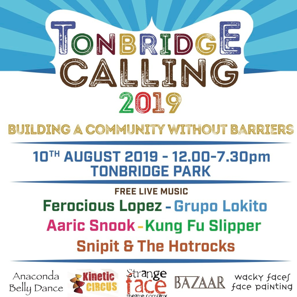 Tonbridge Calling 2019 and afterparty! - Tonbridge Park and Fuggles Beer Café Tonbridge, Saturday August 10, 12-7.30pm (main festival) and 7.30pm-midnight (afterparty DJs)We're at this year's Tonbridge Calling festival with a pop-up bar, serving some of our favourite beers, ciders and gins all day, along with plenty of live music and entertainment. The party doesn't stop there, as it's back to our Tonbridge site for live DJs and more drinks until midnight – see you there!