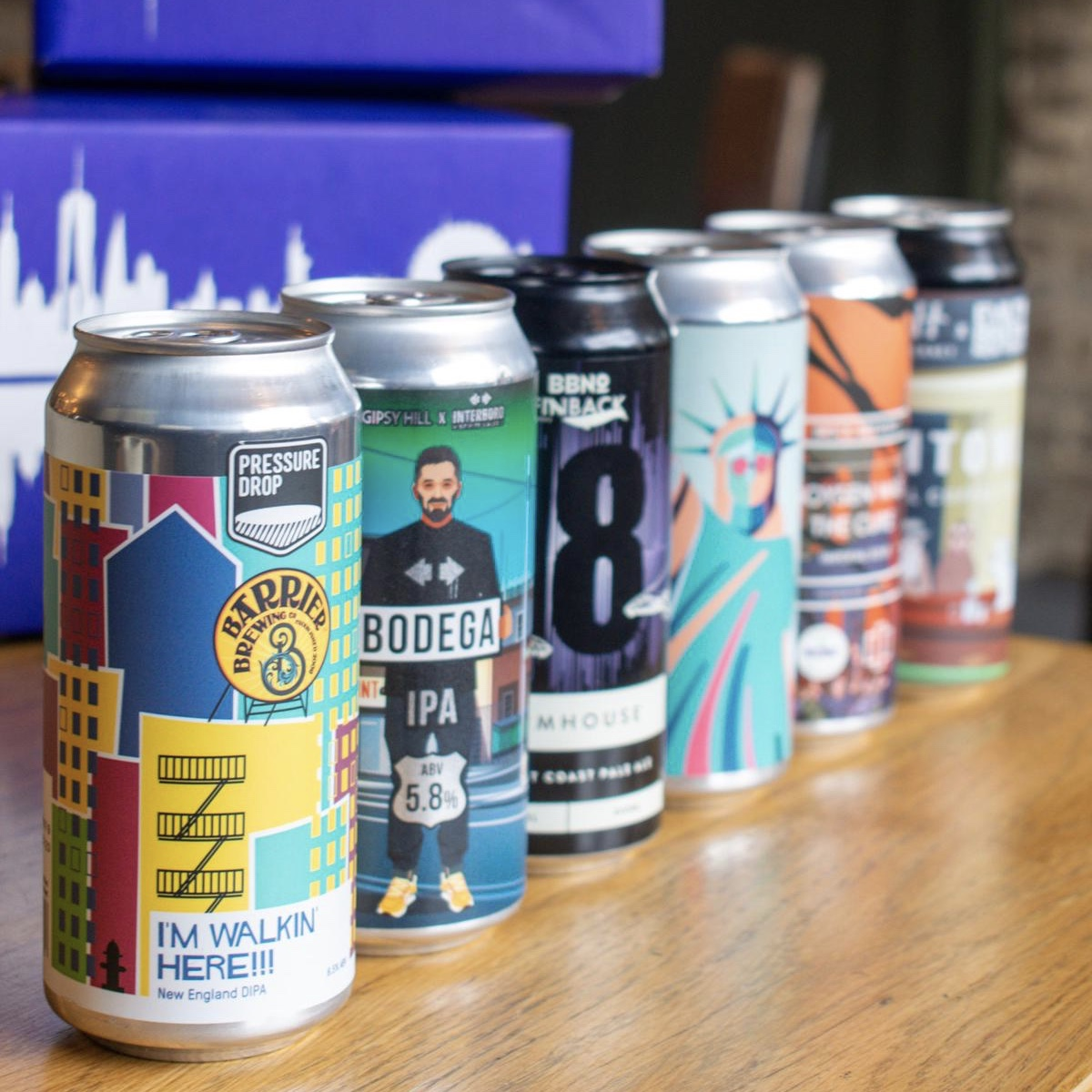 Alex's beer of the month - I'm loving The Skyline Project, which is a really exciting collaboration between 12 independent craft breweries from London and New York. This set of six beers was created to encourage new relationships and an interchange of brewing knowledge between two of the world's most iconic, exciting craft brewing cities, and is well worth checking out!