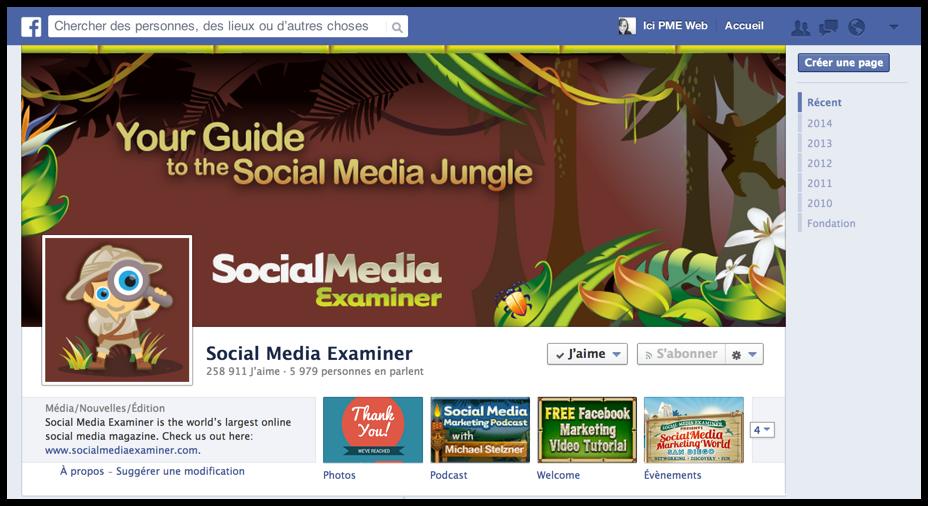 Facebook-Exemple