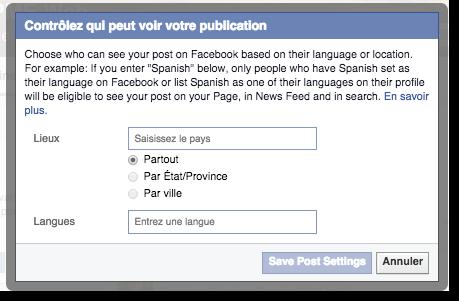 Qui peut voir vos publications sur Facebook
