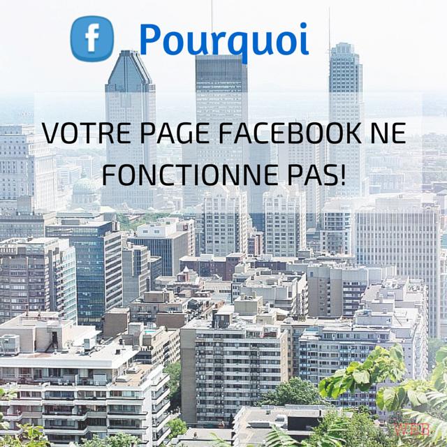 Pourquoi votre entreprise n'a pas de succès sur Facebook