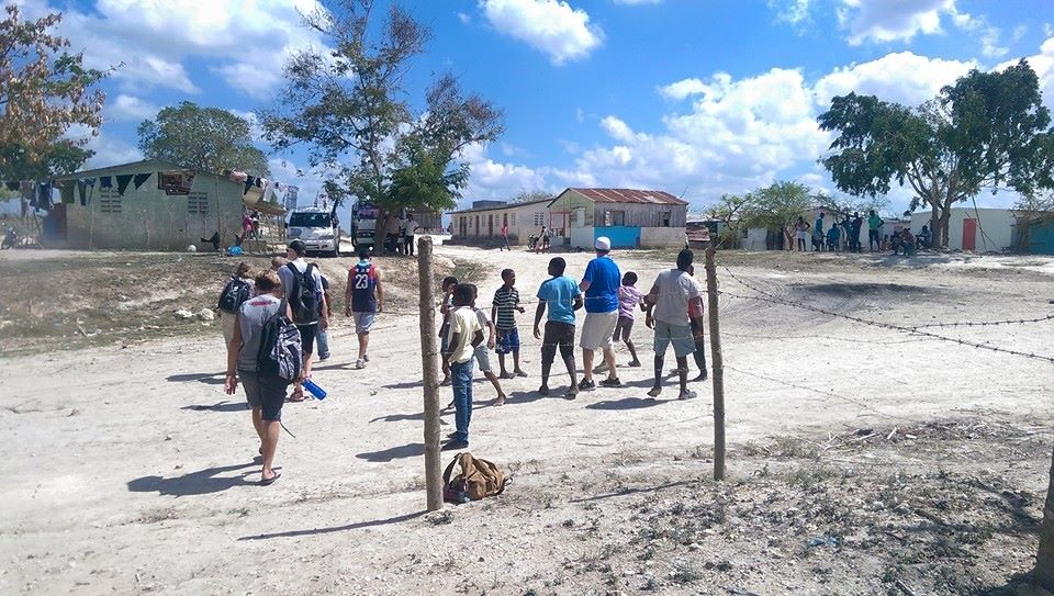 These are hot days on the dry streets that the mission team walks as they move door to door with their ministry partners.