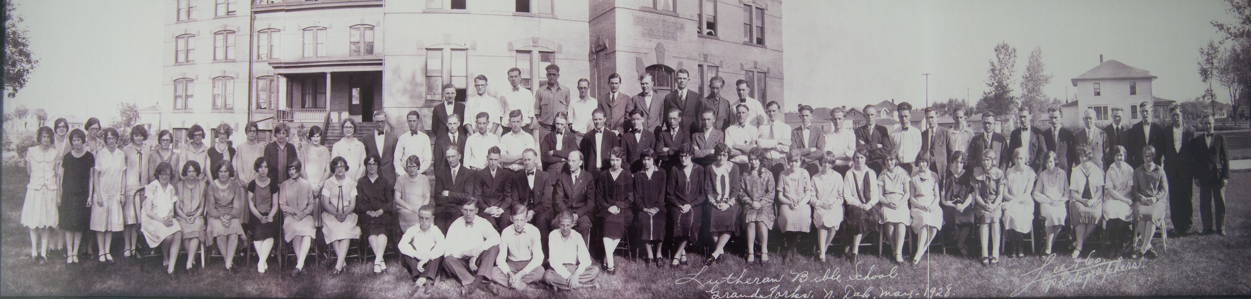 The Lutheran Bible School Class of 1928 saw a significant rise in student enrollment in the High School department. Later, this department would become Hillcrest Academy.