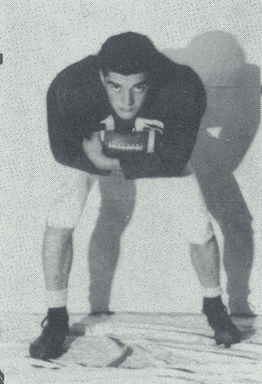 Joel Egge poses for the yearbook in his senior season, 1959.