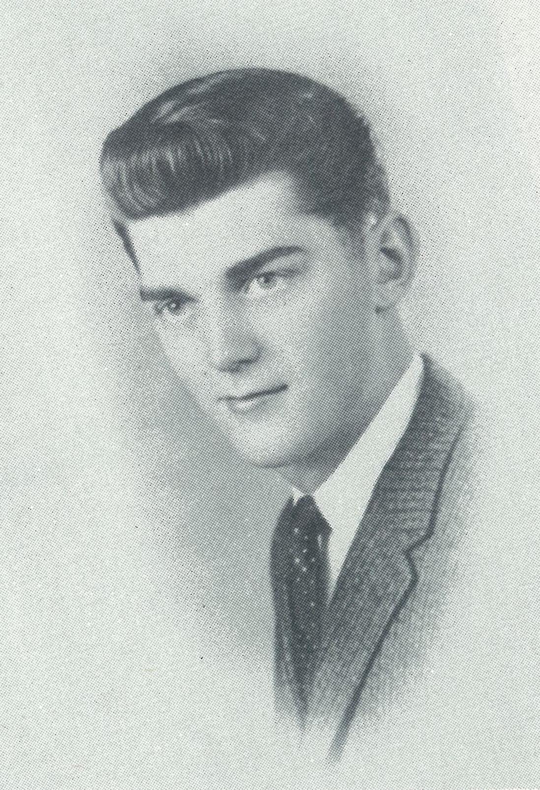 Joel Egge's senior photo from the 1959 beacon.