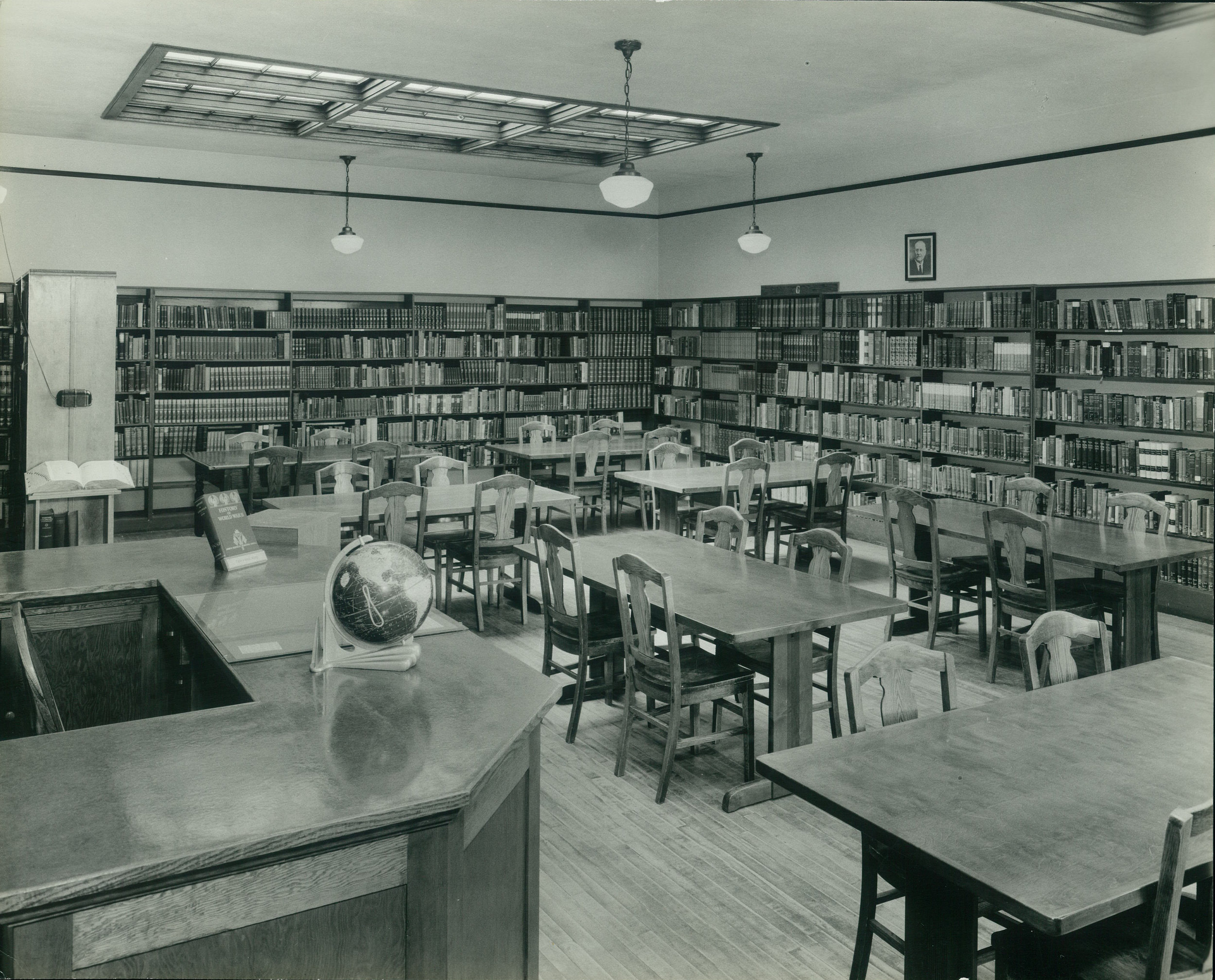 Pictures of the library in what became a place for students to wrestle out their faith in a new academic home in the 1930's.