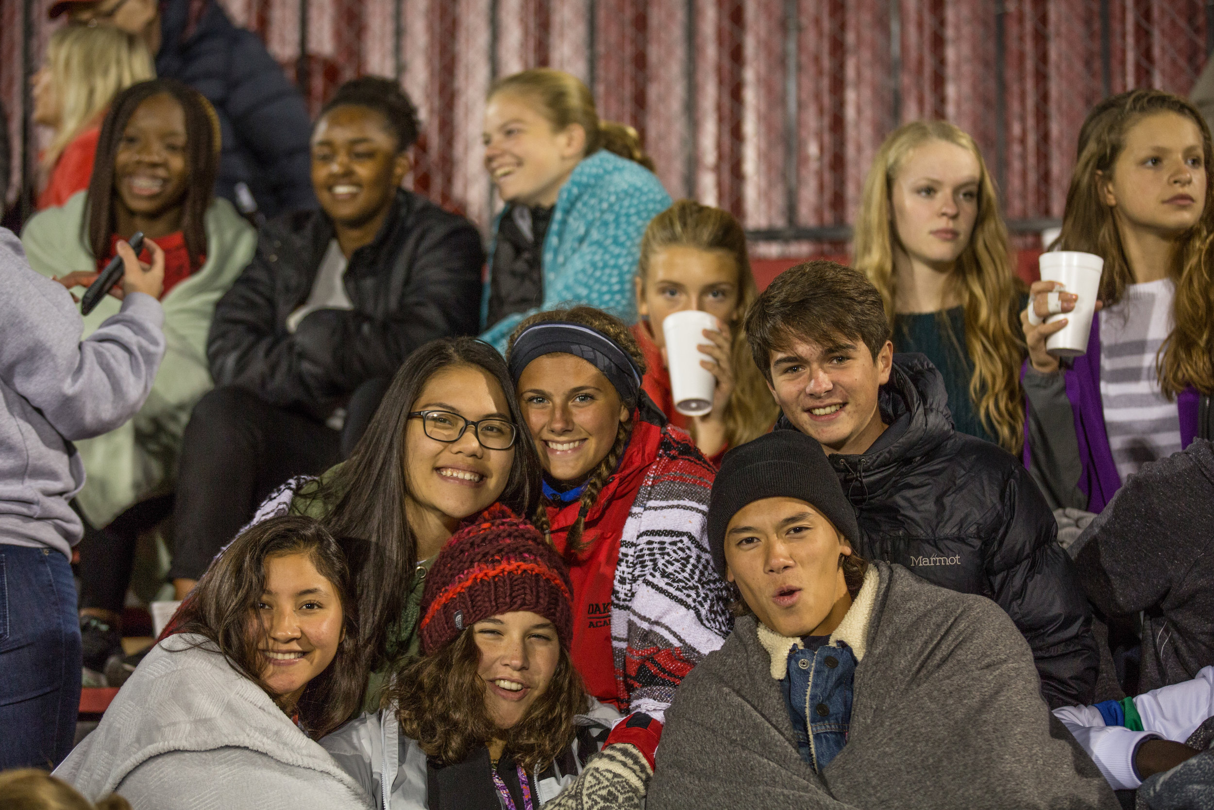 Students unite at sporting events, playing and cheering for friends as a part of the Comet community.