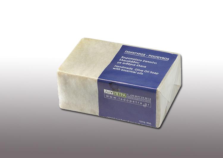 handmade olive oil soap  POLYGYROS 125gr
