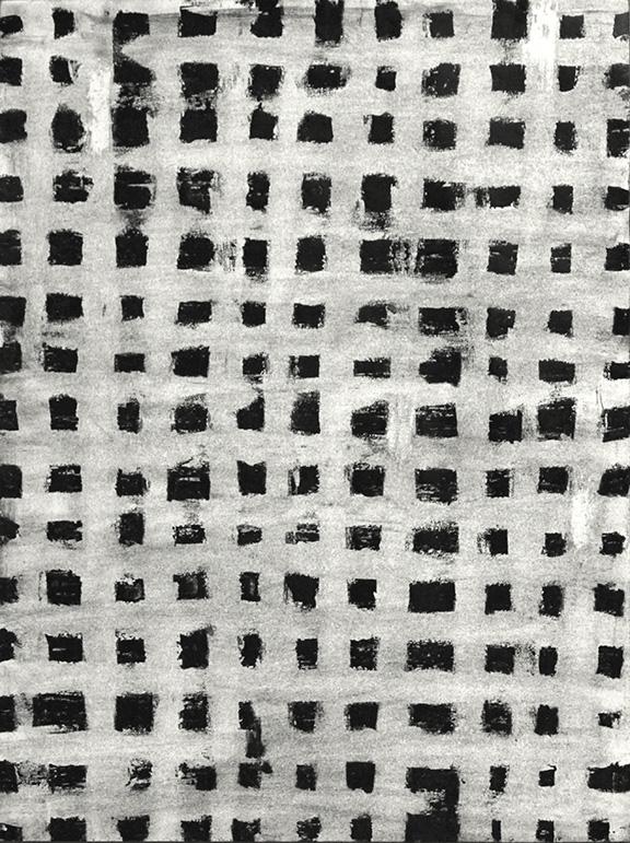 """Untitled 14.01    2013  Vaseline, Ink, China Marker on Paper,12"""" x 9"""""""