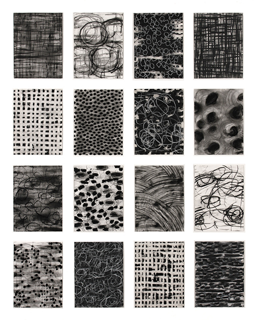 16 Drawings   2013 - 2015  Mixed Media on Paper