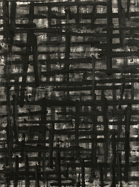 """This That   2014  charcoal on paper mounted to panel, 12"""" x 9"""""""