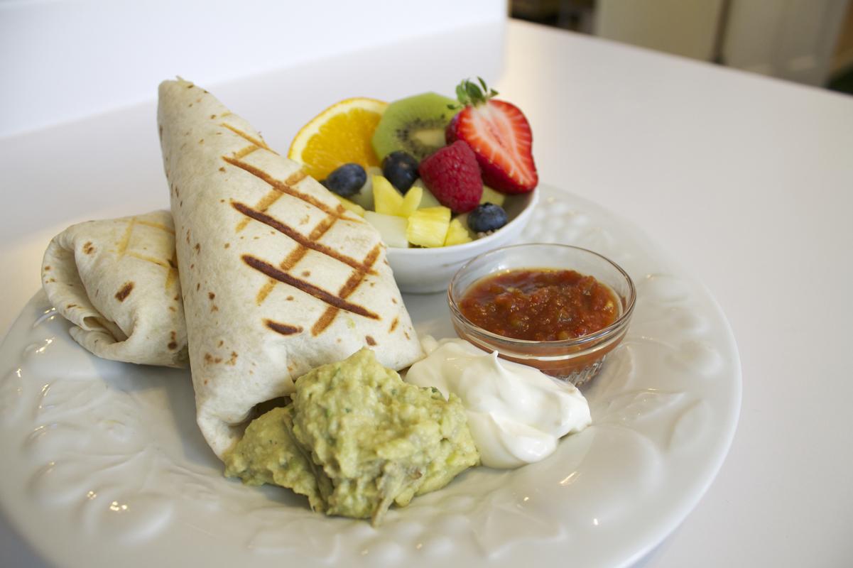Breakfast Burrito at the Willard Street Inn