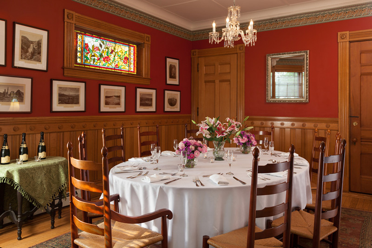 Lang House on Main Street, special dinner