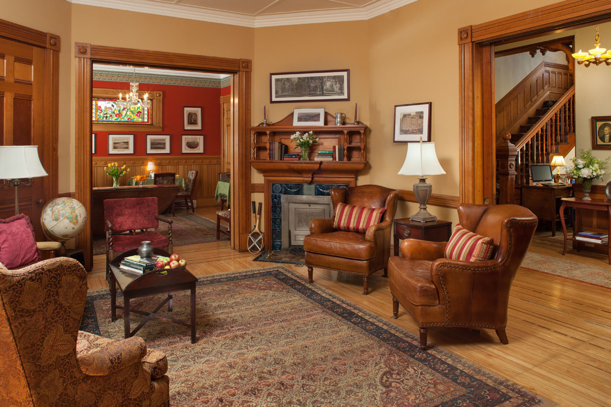 Common area at the Lang House on Main Street