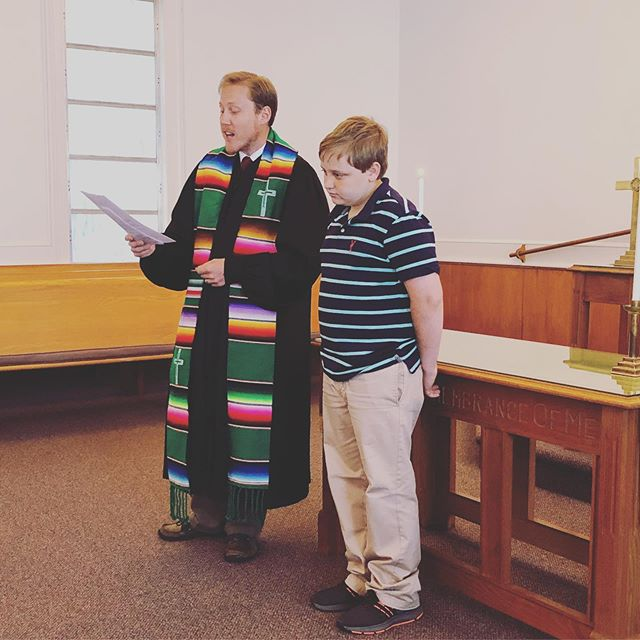Welcome to our newest member, And congratulations, Matthew, on your confirmation!