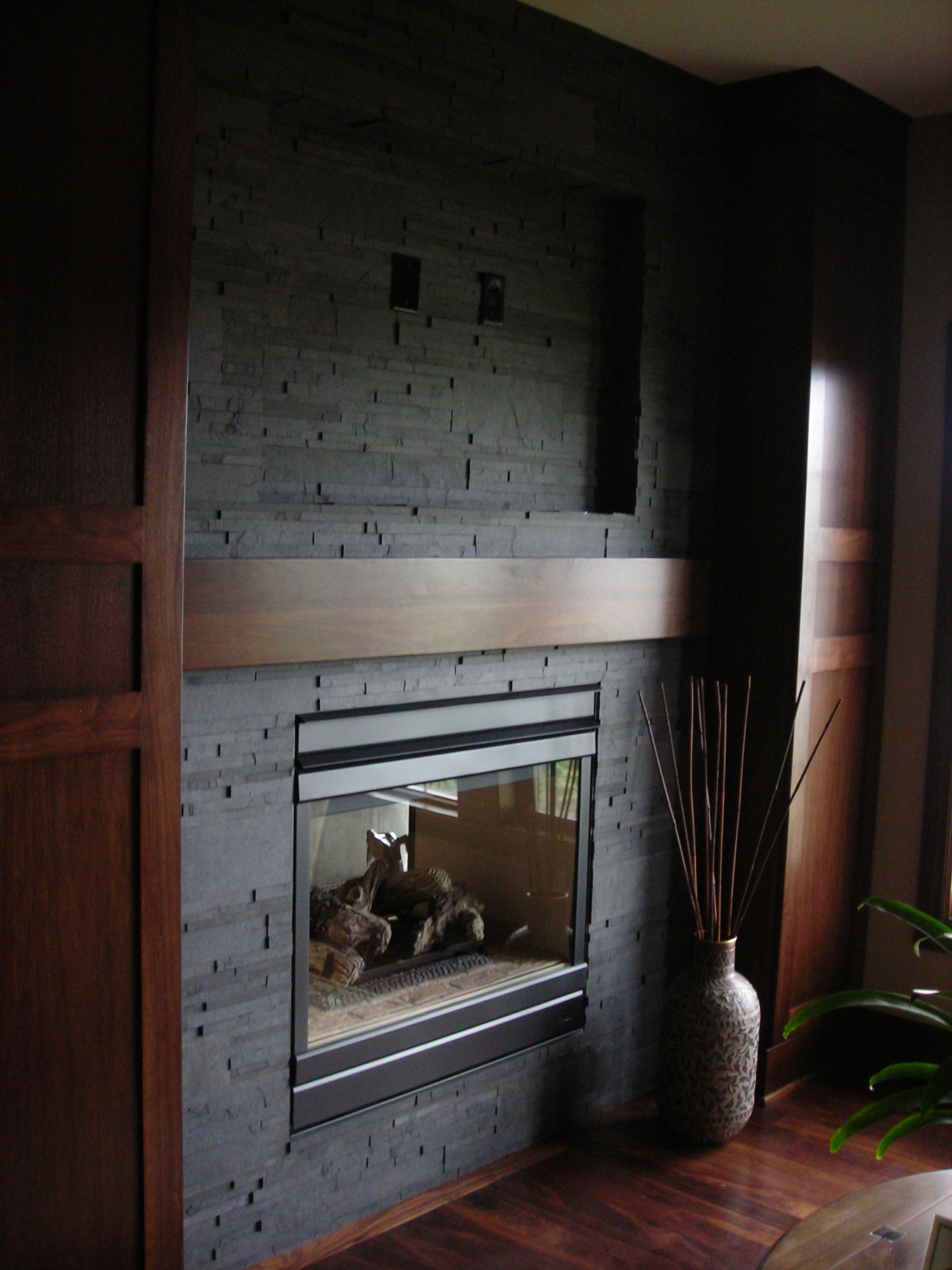 Fireplace - Very little prep for an amazing result - when Slate-ish is used with an insert fireplace.