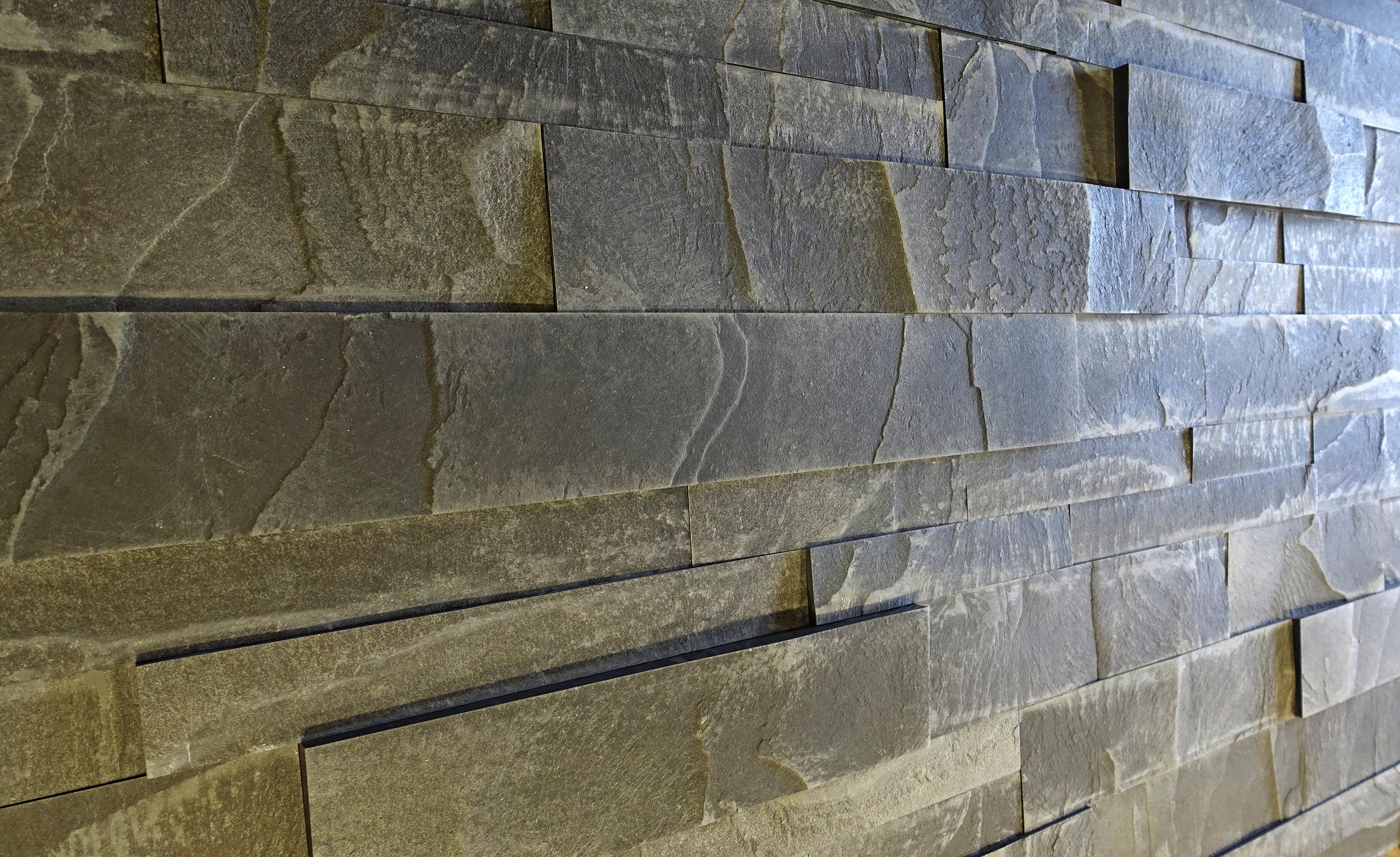 "Asphalt XL mixed with our Standard 1.5"" Asphalt tile"