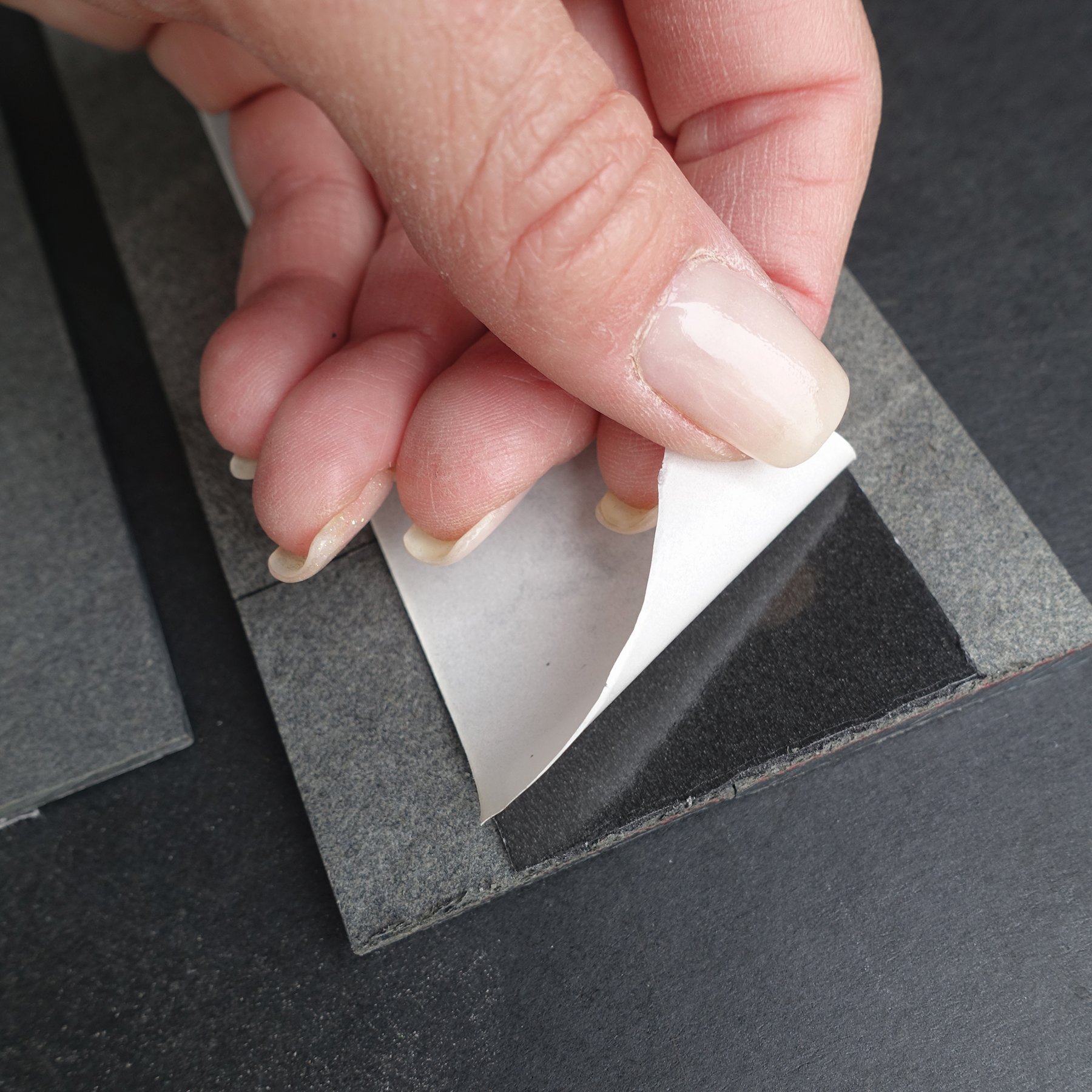Peel & Stick backing is easy to remove