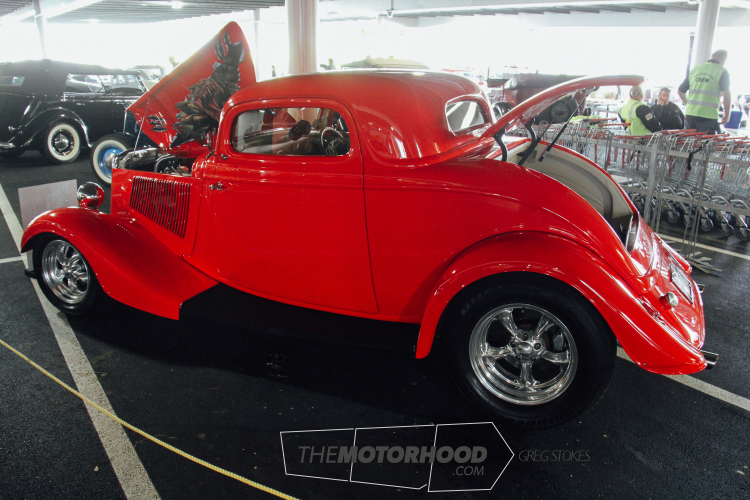 Shane and Lynda Tate's '33 Ford Coupe is a recent build by D&V Autos featuring an injected Ford engine
