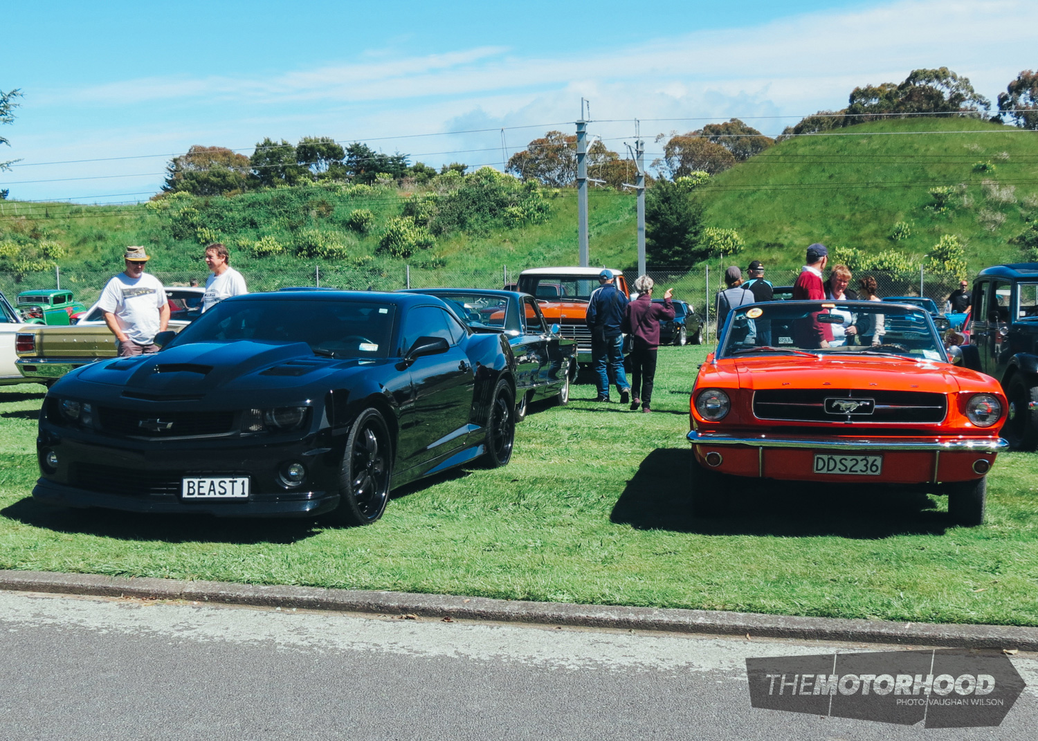 Vehicles were parked up on the grassy verges and admired by visitors