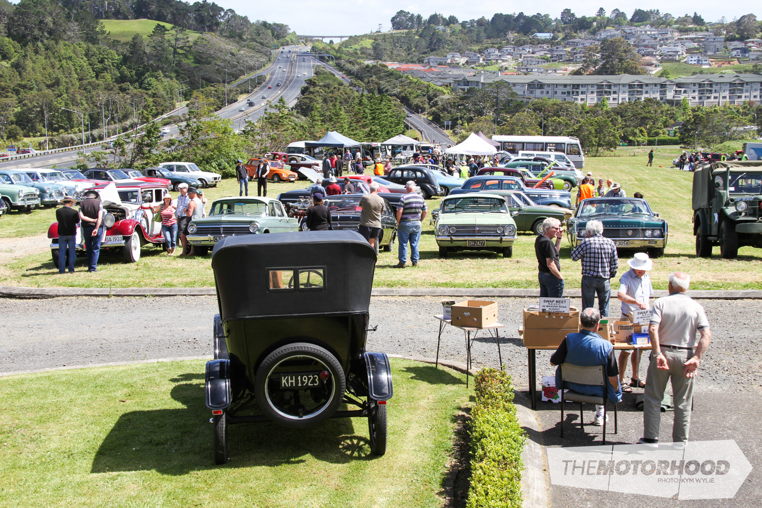 The North Shore Vintage Car Club's facility is located just off themotorway near Albany