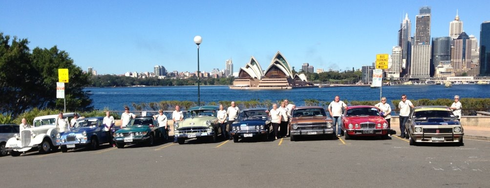 All done — the line up at North Sydney, under the Harbour Bridge