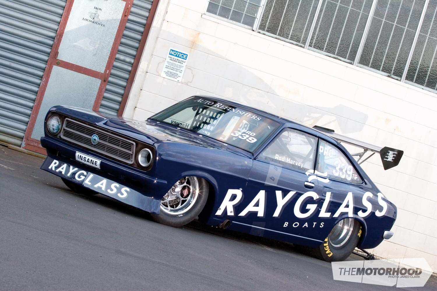 One of the team's first trips to Australia running the SR20-powered Datsun at the Brisbane Jamboree