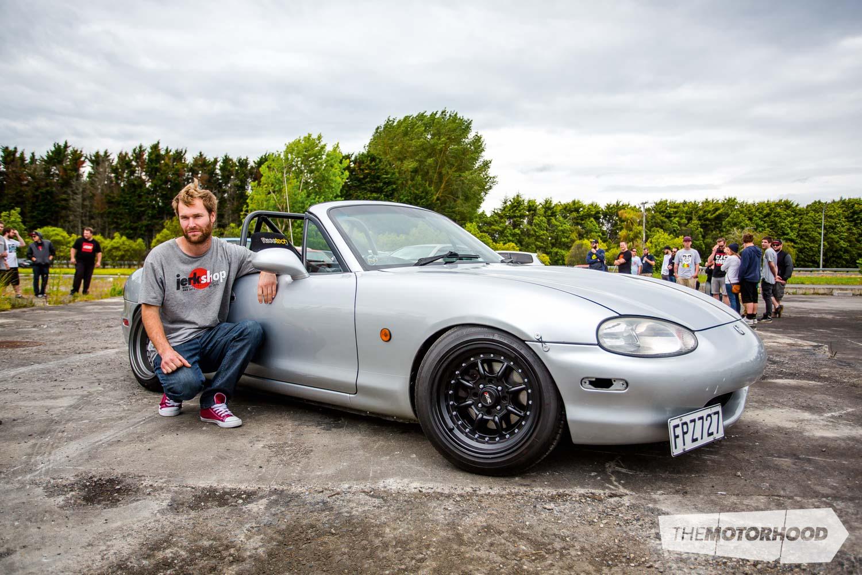 Name: Willy Cate Car: 13B PP 1999 Mazda MX-5 Wheels: 15x8-inch (0)/15x9-inch (0) XXR 002