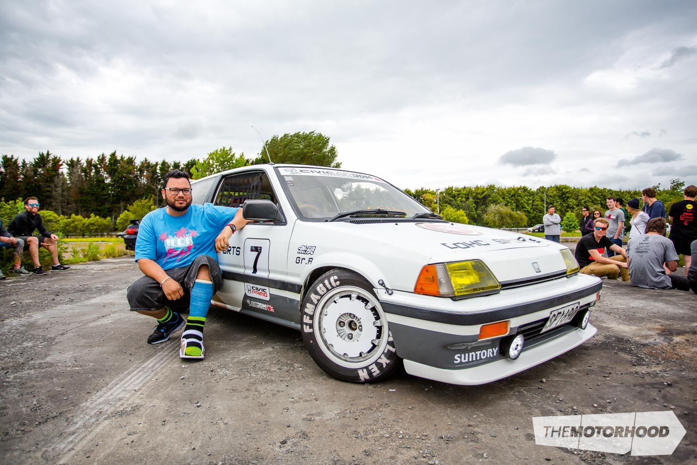 Name: Nigel James Car: Kanjo 1985 Honda Civic Wheels: Factory, custom CNC'd turbo fans