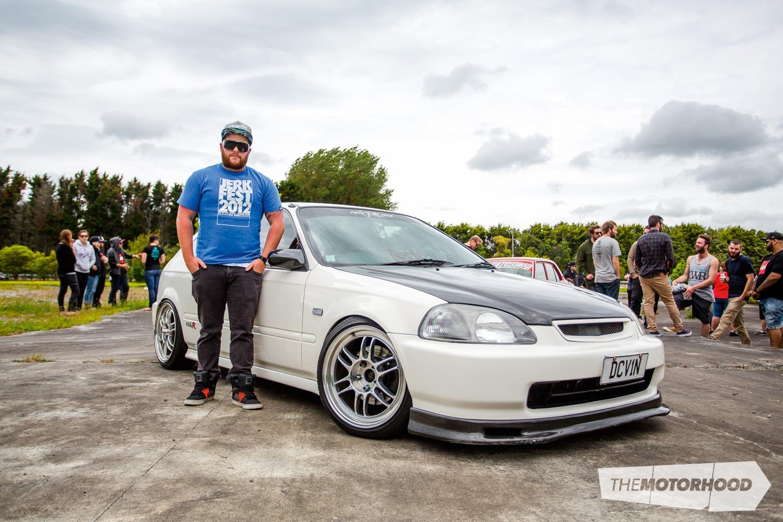 Name: Matt Dallimore Car: B16B Honda Civic (EK9) Wheels: 17-inch Enkei RPF1
