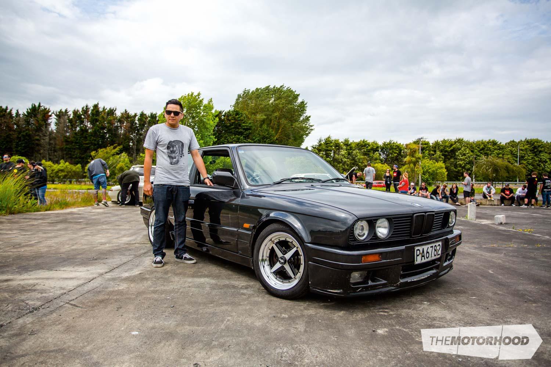 Name: Peter 'Fag-swag' James Car: 1988 BMW E30 Specs: Slammed Wheels: 15x7-inch Work Equips