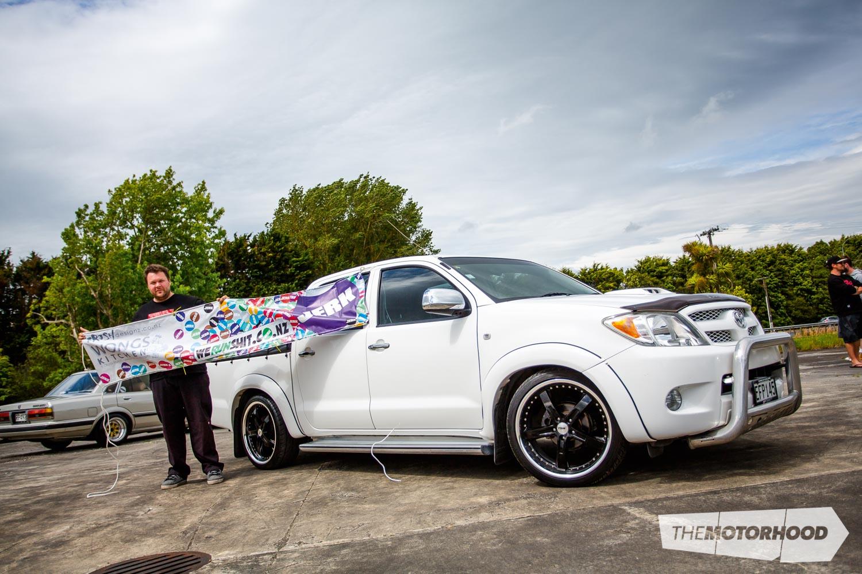Name: Brian Cox Car: 2007 Toyota Hilux Wheels: 17-inch TSWs
