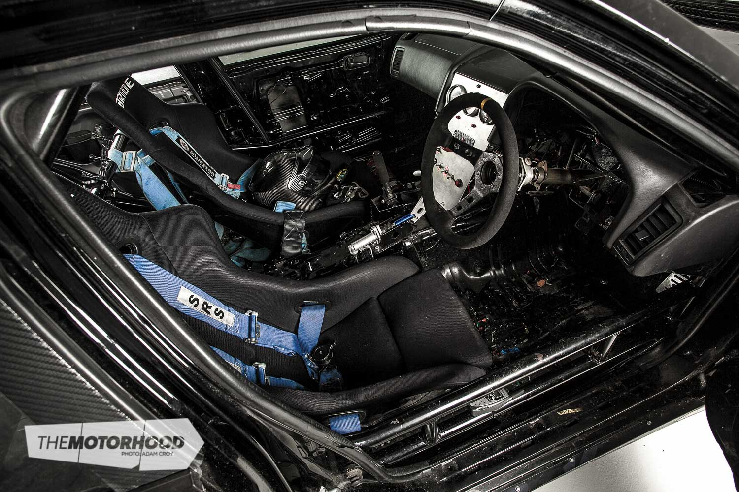 Inside it's a workhorse through and through. Darren will upgrade the seats and harness to FIA-spec equipment before Australia due to its differing regulations. He was one of the first drivers to begin wearing a HANS device