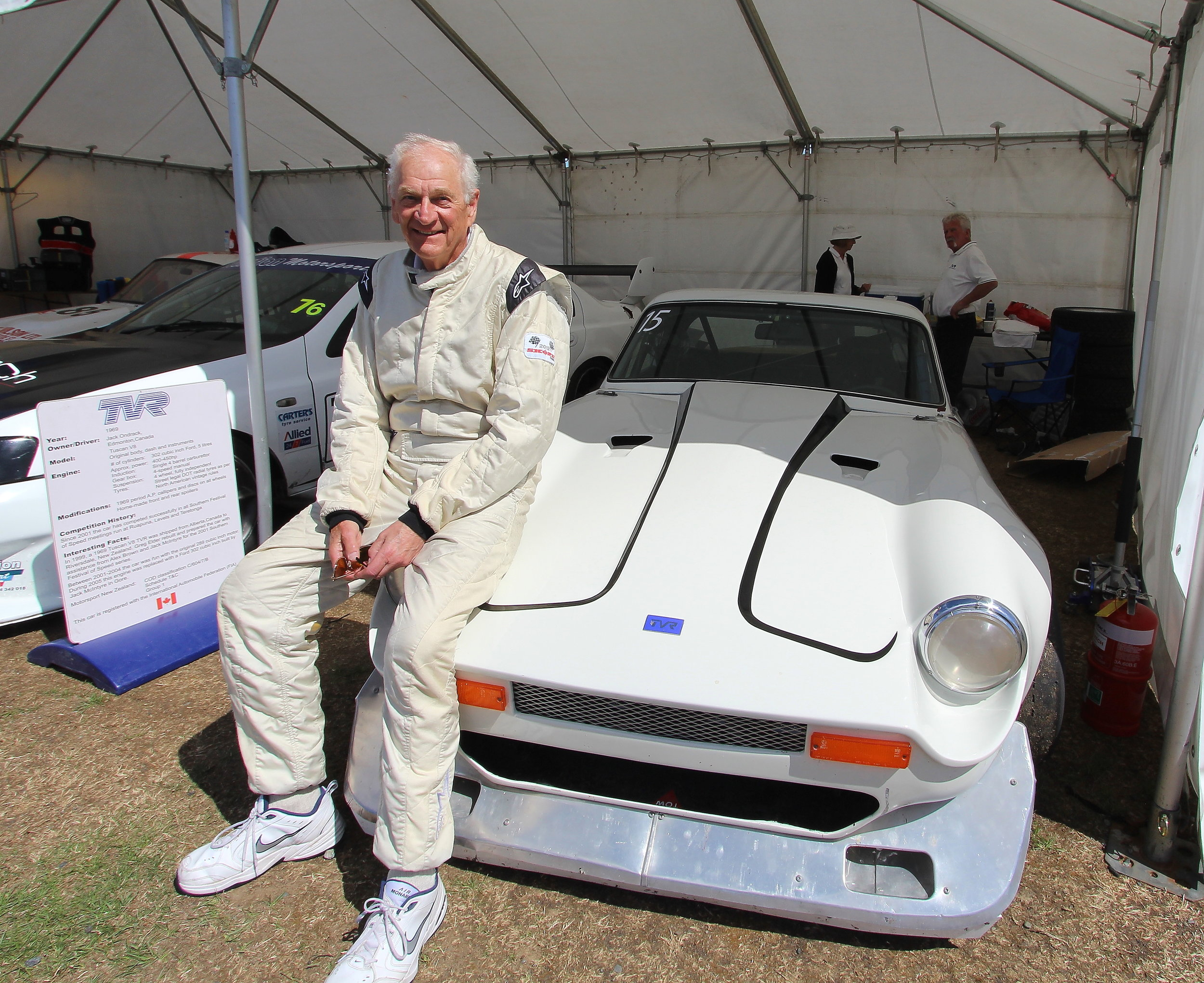 Always fast: Jack Ondrack (Canada) returns every year to pilot his extremely quick TVR