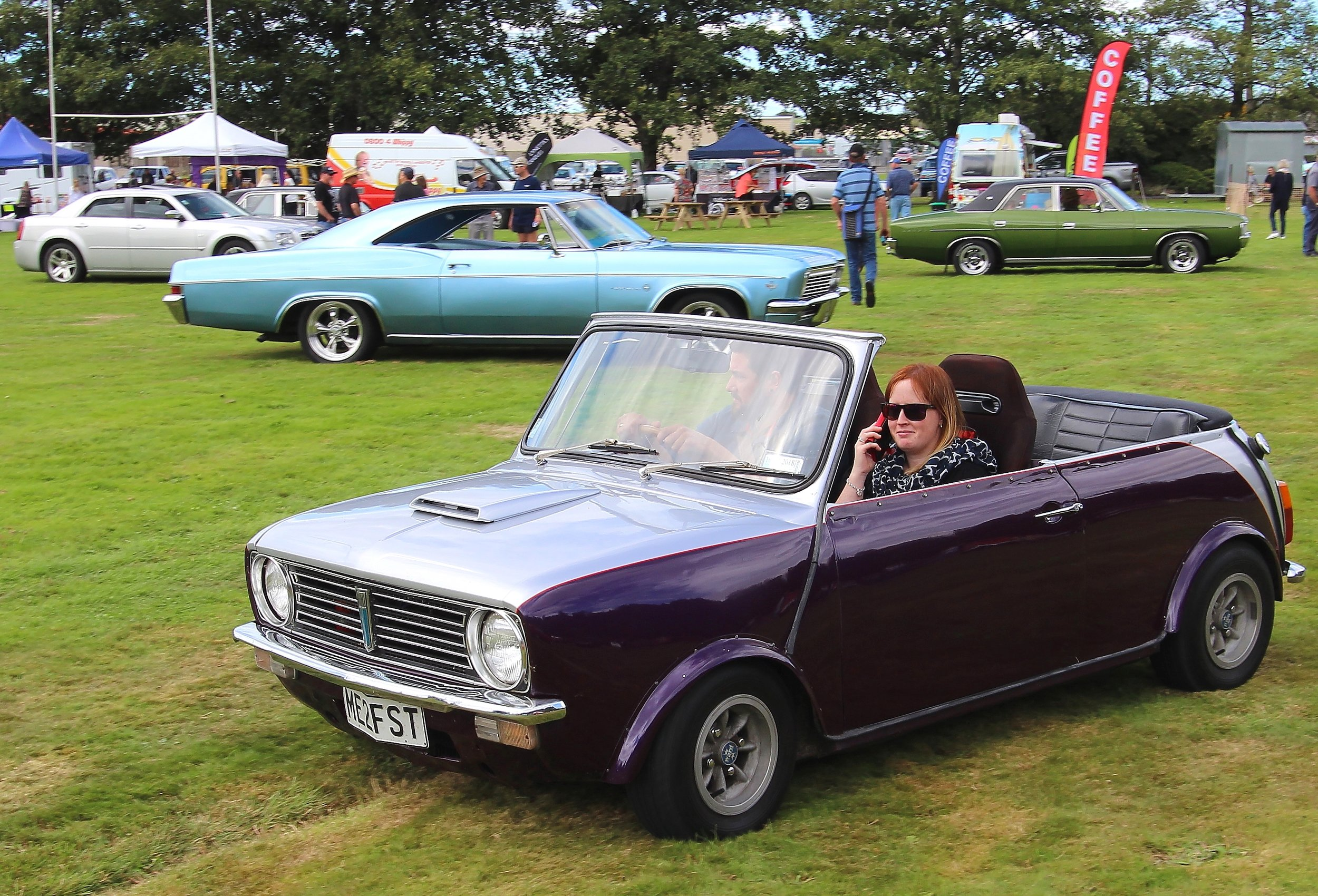 Cute mini convertible