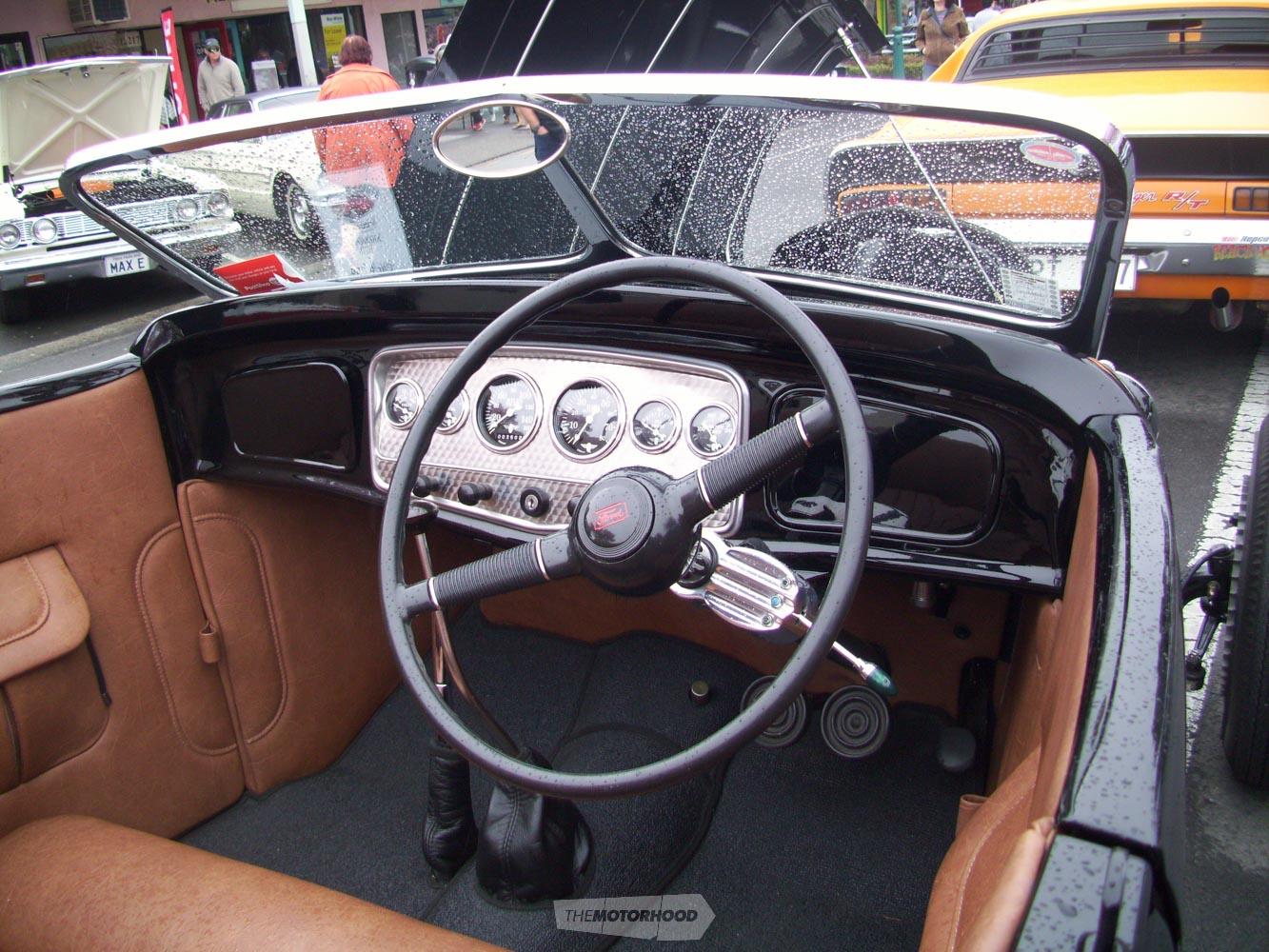 An interior shot of Neil & Jo  Hartigan's 1931 ford Roadster.jpg