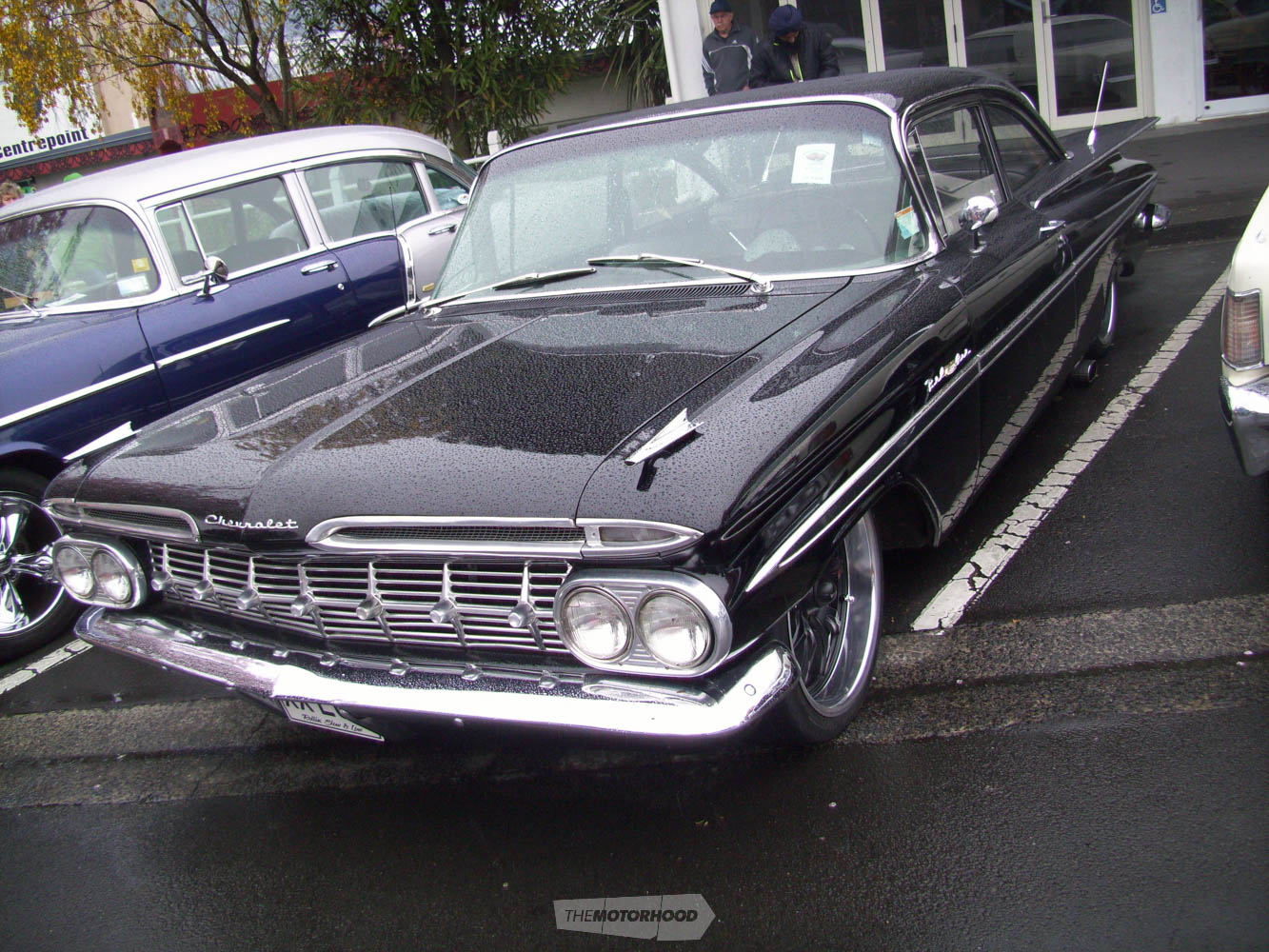 Anther Bay Rodders member Johnny Birch  came in his beautiful  black 1959 Chevrolet BelAir.jpg