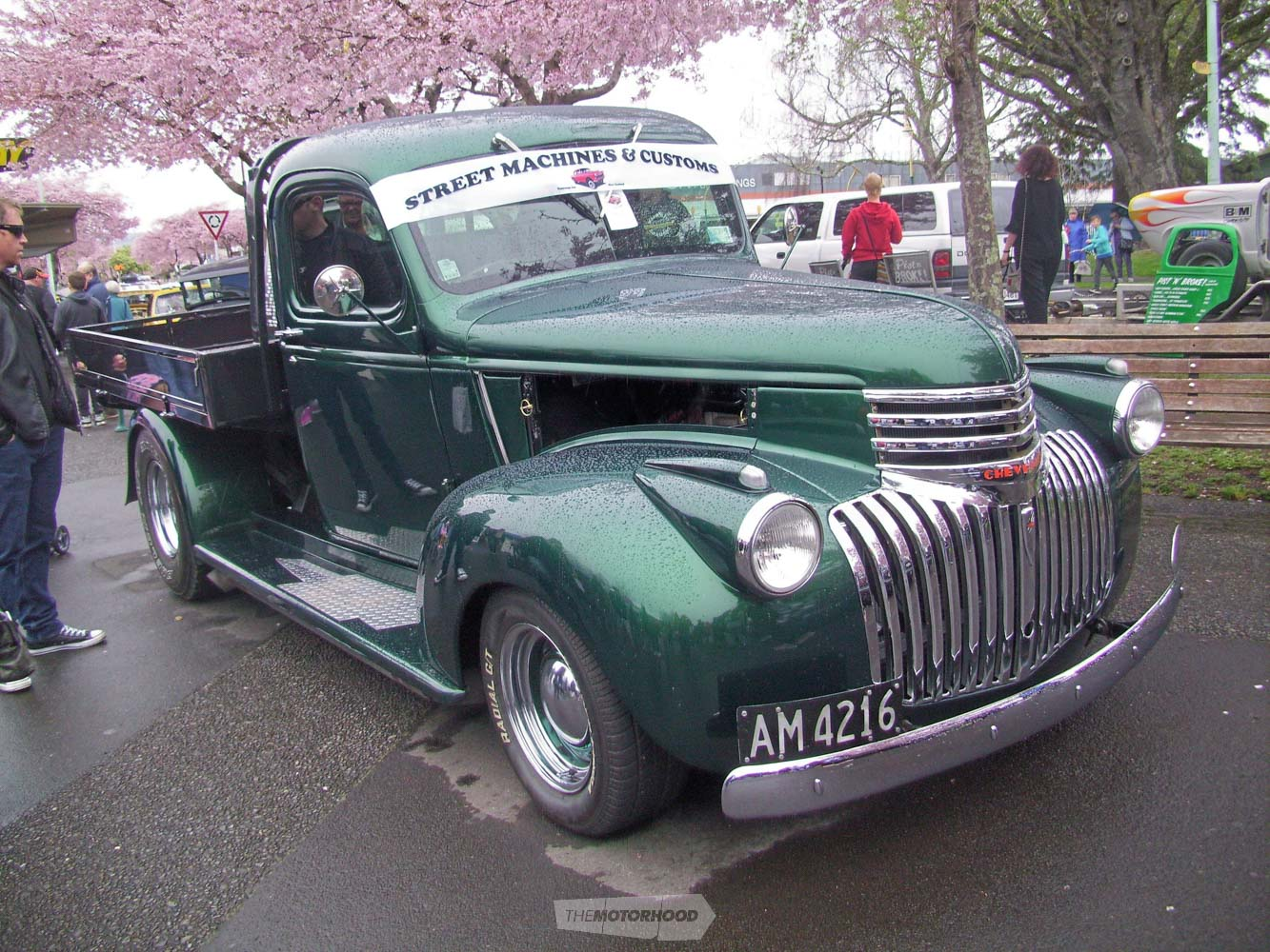 Colin Fitch from SM&Cs also had his 1946 Chev Thriftmaster pickup on display.It runs a 454 Chev V8 in it.jpg