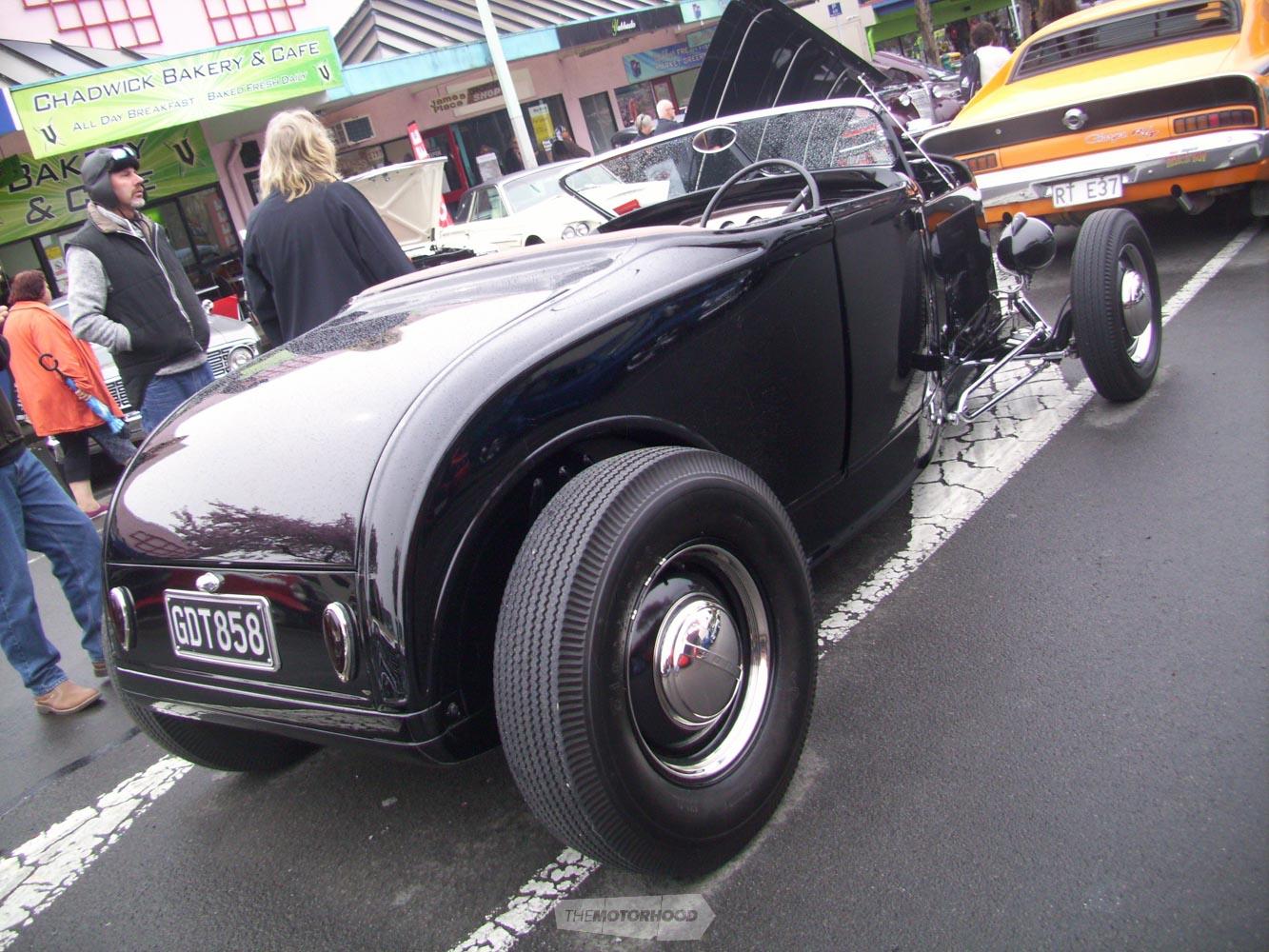 Neil & Jo Hartigan beside their duval screened 1931 Ford Roadster.jpg