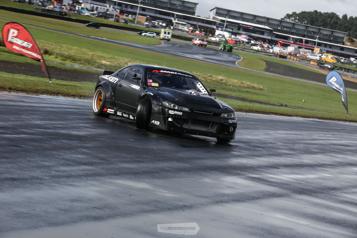 Carl Thompson is no stranger to killer V8 engine packages in his pair of drift Silvias, using the event to shake down his latest combo. Based around a Dart block, with a billet crank, and 430cfm Mast Str8jacket Heads, capacity sits at 428ci. Currently it's pushing 1220hp to the tyre with the Vortech ysi-b supercharger running 16psi
