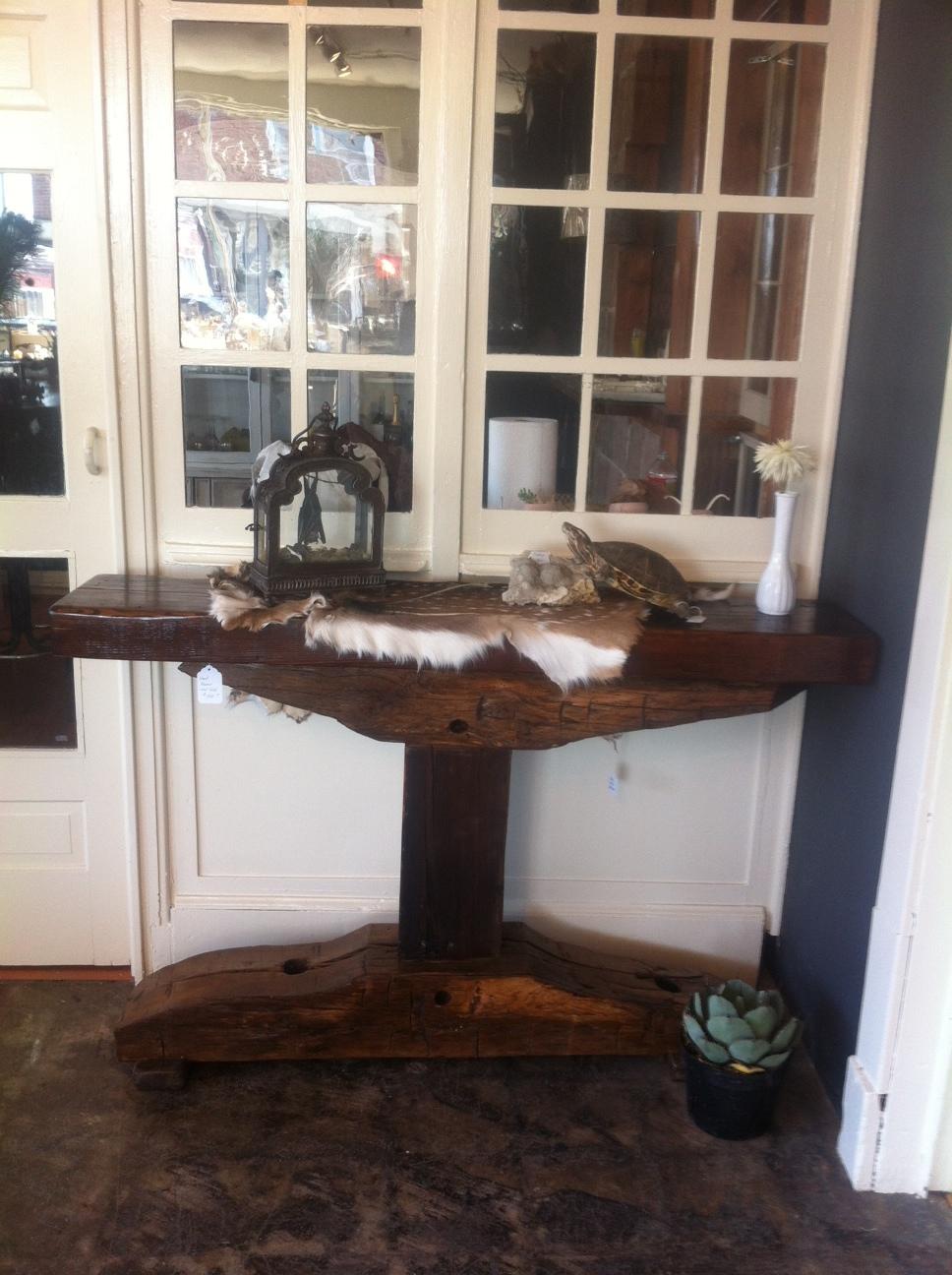 Axe Hewn End Table - $750