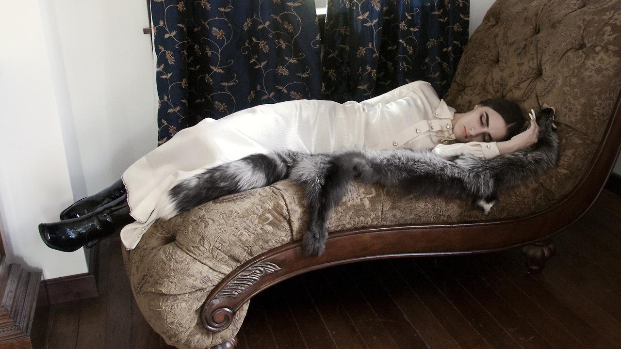 SILVER FOX PELT VIA  ORACLE  , SELF-PORTRAIT, PH. LAUREN THURMAN-KING, 2014