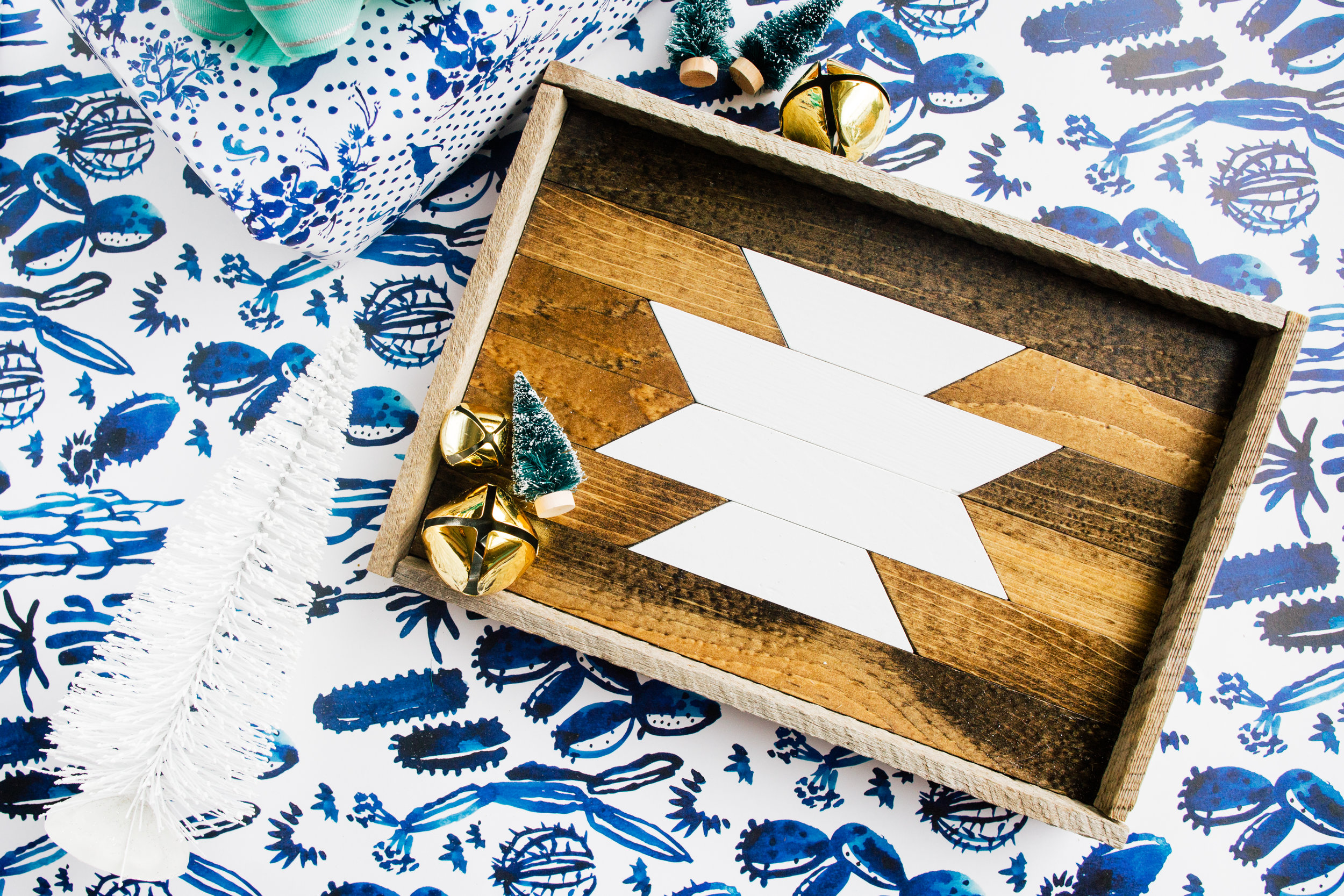 Small Reclaimed Wood Tray by Love Ding!