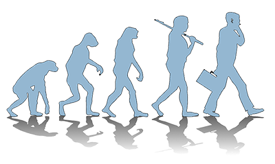 Evolution isn't just about how man learns how to deal with his outer environment. It is with how he deals with his inner environment as well. On an individual basis, as a society, and as a business organization.