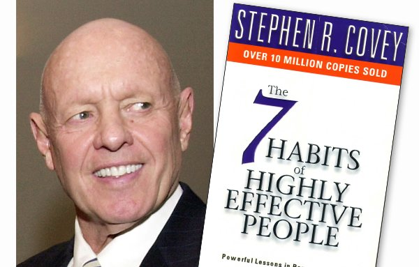 """Stephen Covey and his landmark book: """"The 7 Habits of Highly Effective People"""""""
