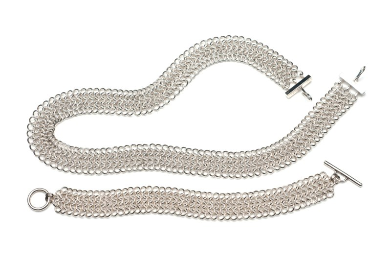 """Sterling Silver Bracelet 7""""   BR02-Ag7   $330 Necklace 16""""   NR02-Ag16   $760 avail. in additional chain lengths"""