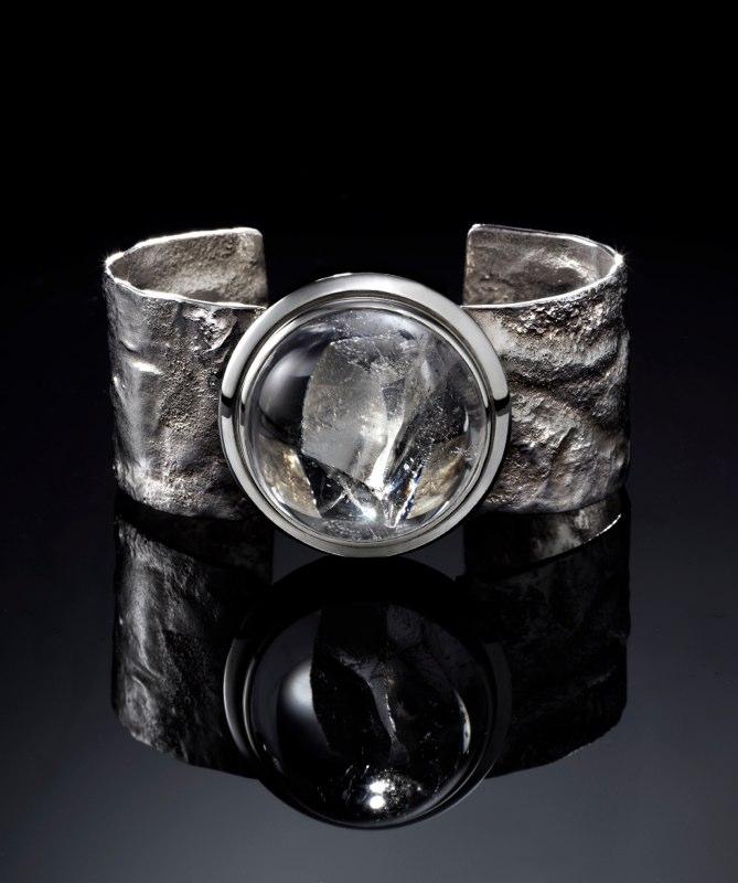 Reticulated Quartz Cuff Bracelet 2013