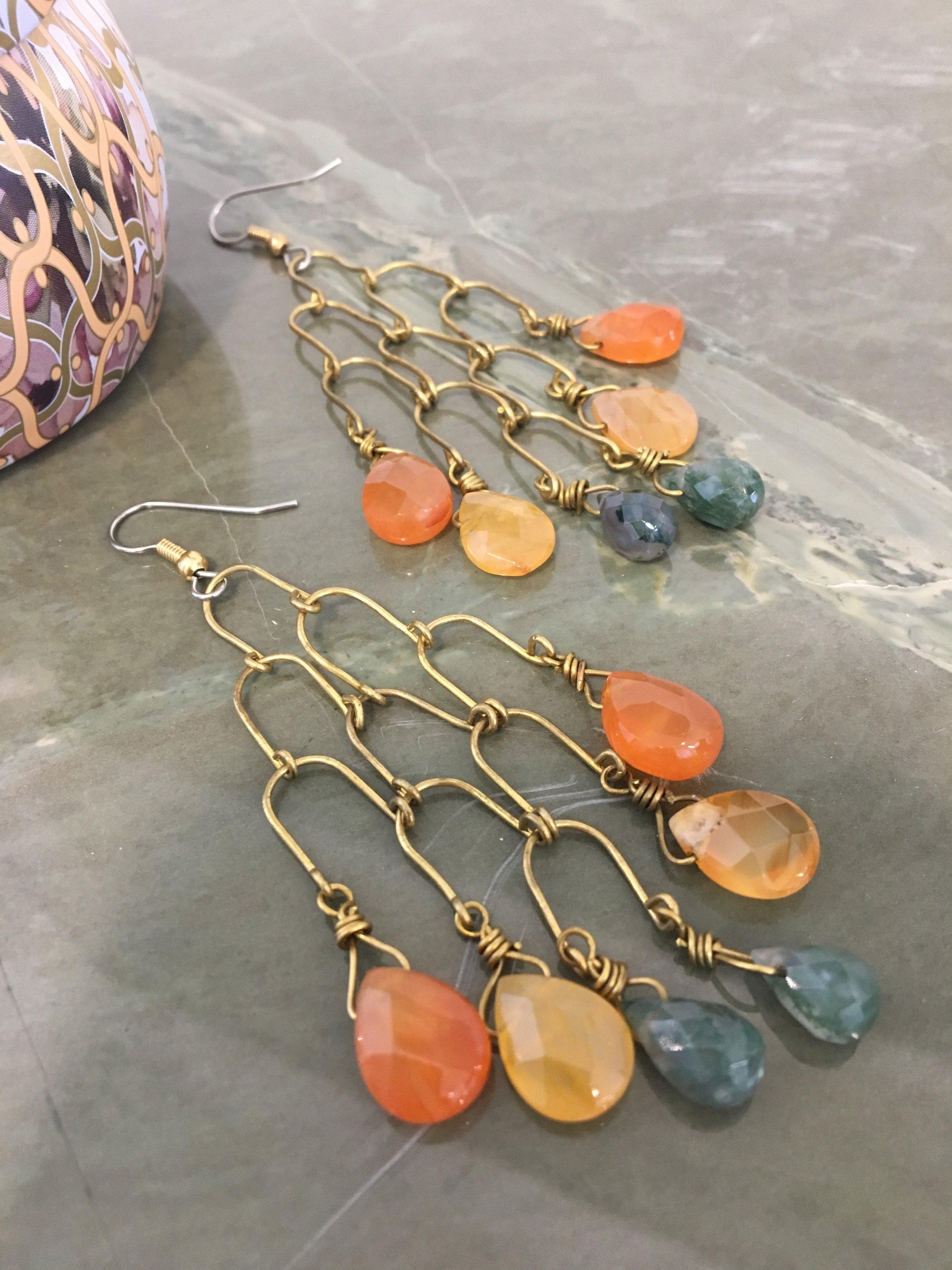 Dangling Broilette Chandelier Earrings