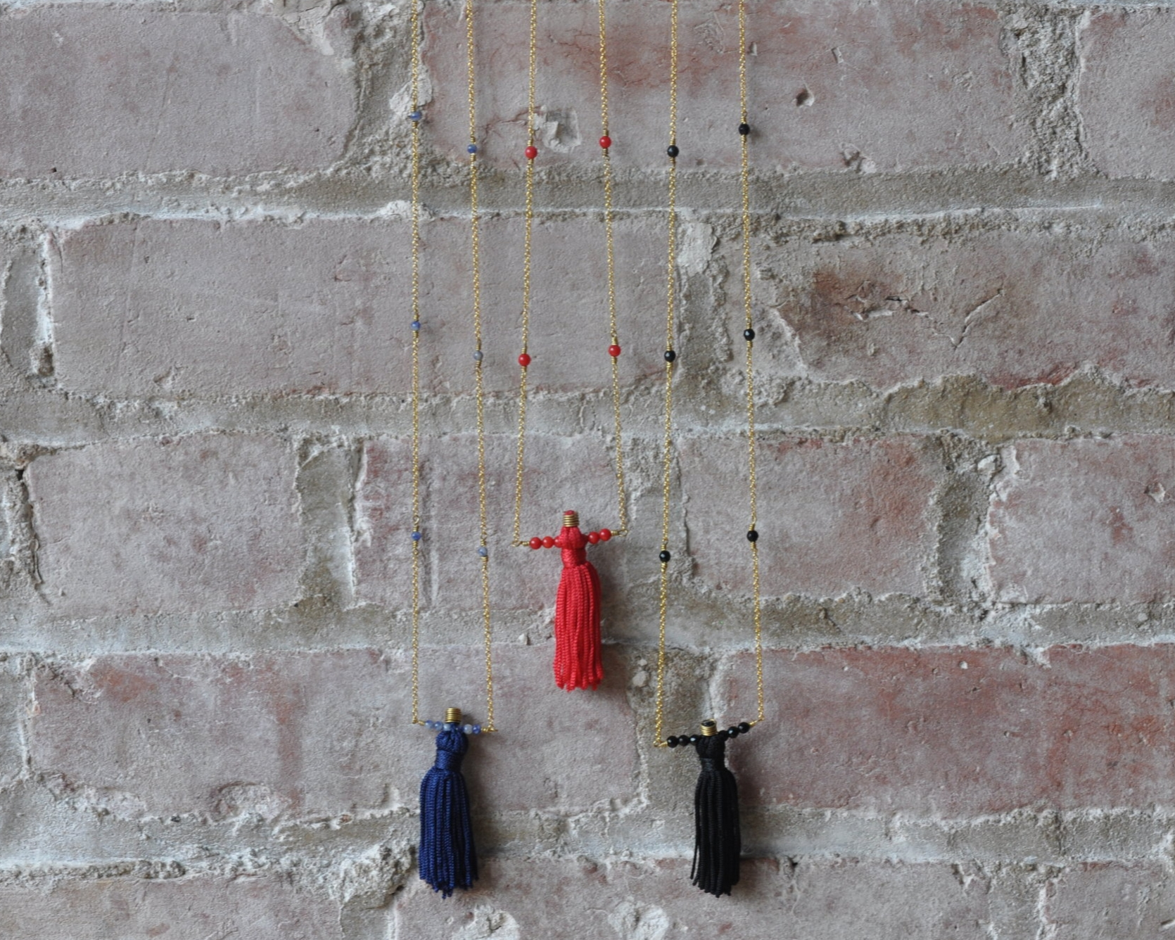 Tassel and Beaded Necklace