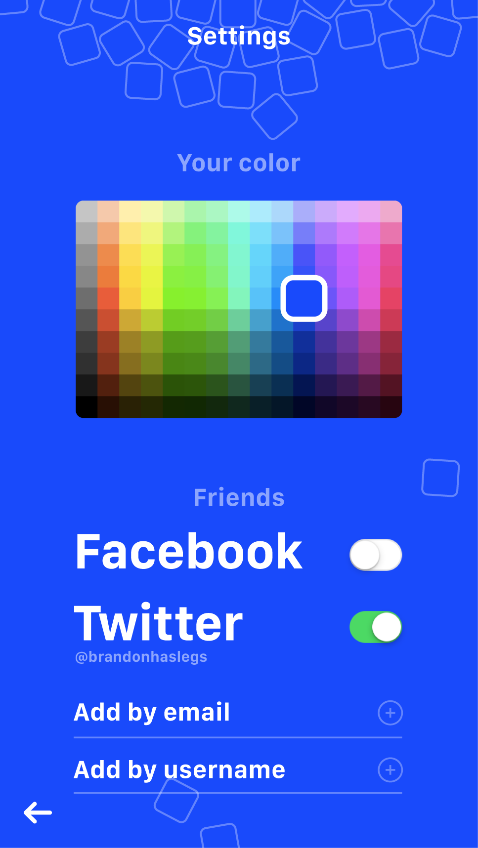Adding friends, and changing your background.